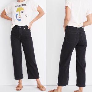 Madewell Slim Wide Leg Jeans In Lunar Wash